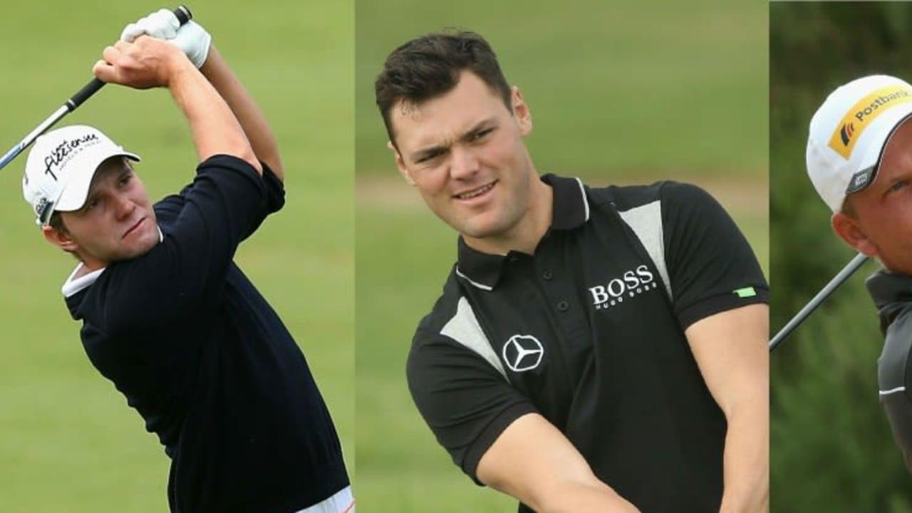Max Kieffer, Rekordsieger Martin Kaymer und Marcel Siem schlagen bei der Abu Dhabi Golf Championship ab