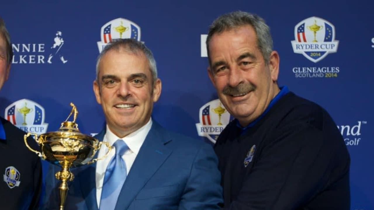 Zwei Vize-Kapitäne für das Team Europa beim Ryder Cup 2014: Des Smyth aus Irland und Sam Torrance aus Schottland