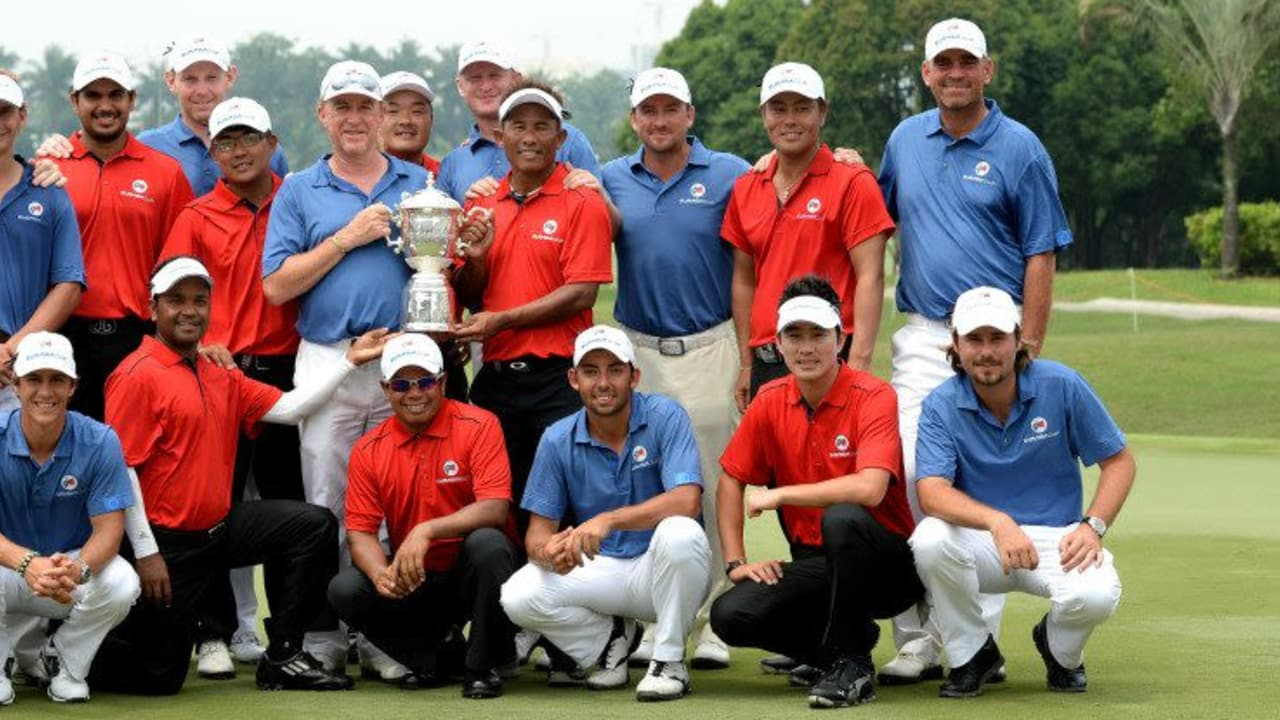 Der erste EurAsia Cup in Malaysia, ausgerichtet von der European Tour, endete mit einemzehn zu zehn Unentschieden. (Foto: Getty)