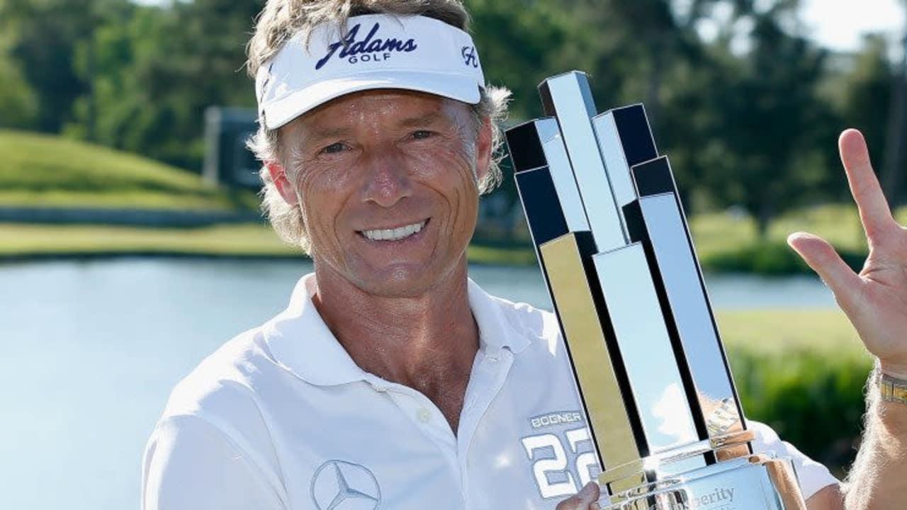Bernhard Langer zeigt es an: Der Triumph in Texas ist bereits sein dritter Titel beim Insperity Invitational.