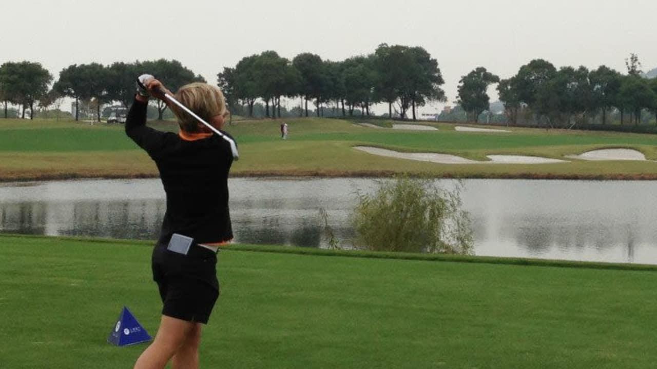 Ann-Kathrin Lindner kam bei der Ladies Slovak Open auf den geteilten fünften Platz.