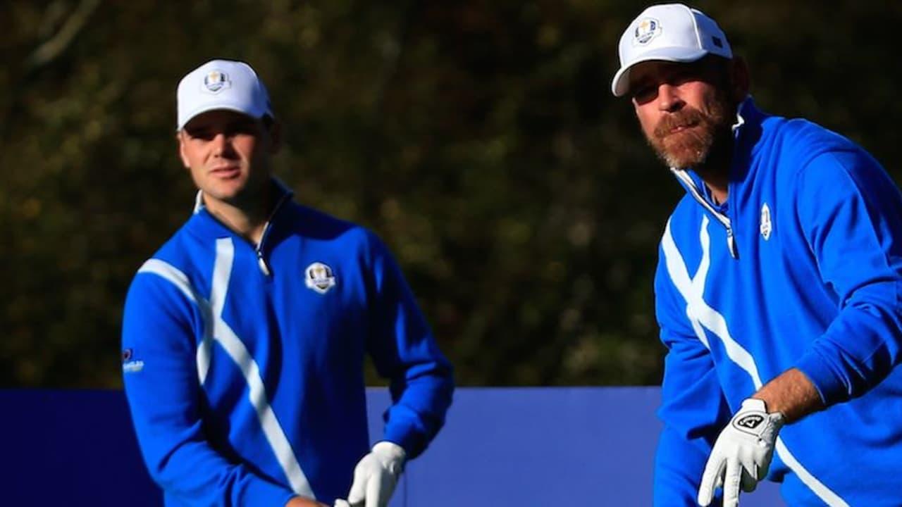 Martin Kaymer und Thomas Björn beim Ryder Cup