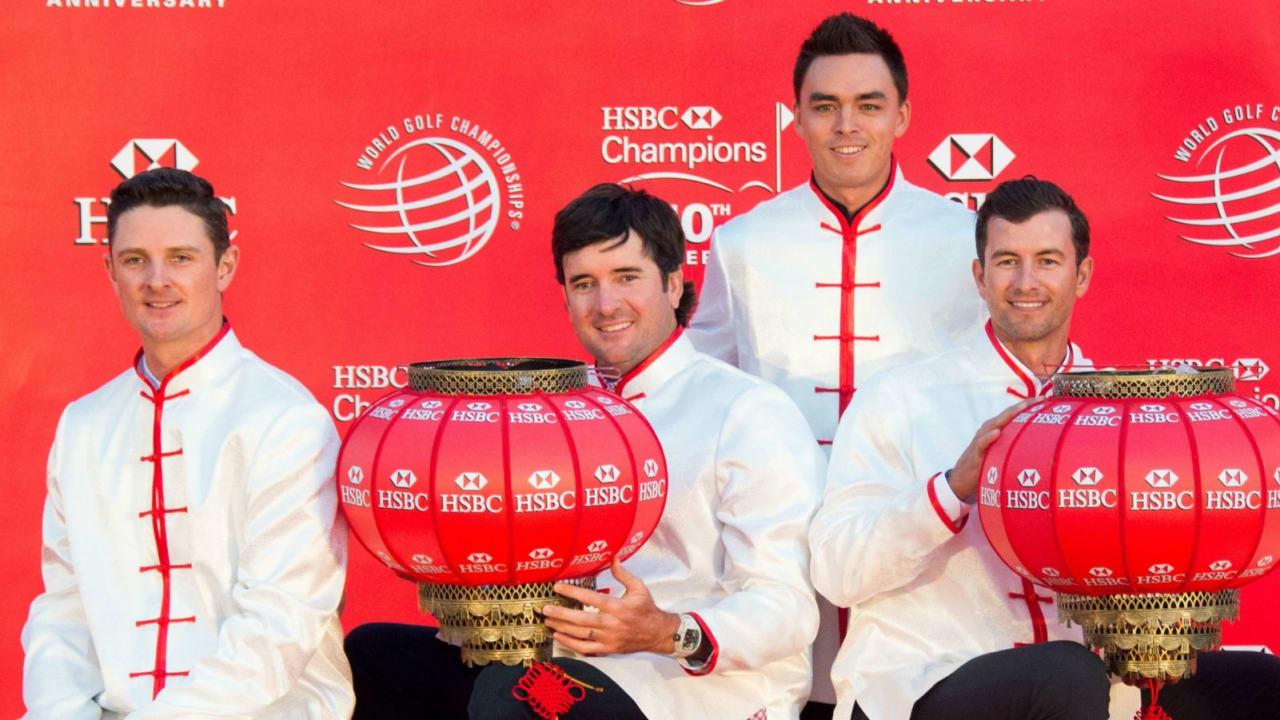 Die Konkurrenz bei der WGC-HSBC Champions in Shanghai ist groß für Martin Kaymer und Marcel Siem. Nicht nur Justin Rose, Bubba Watson, Rickie Fowler und Adam Scott (v.l.) gehören dazu.