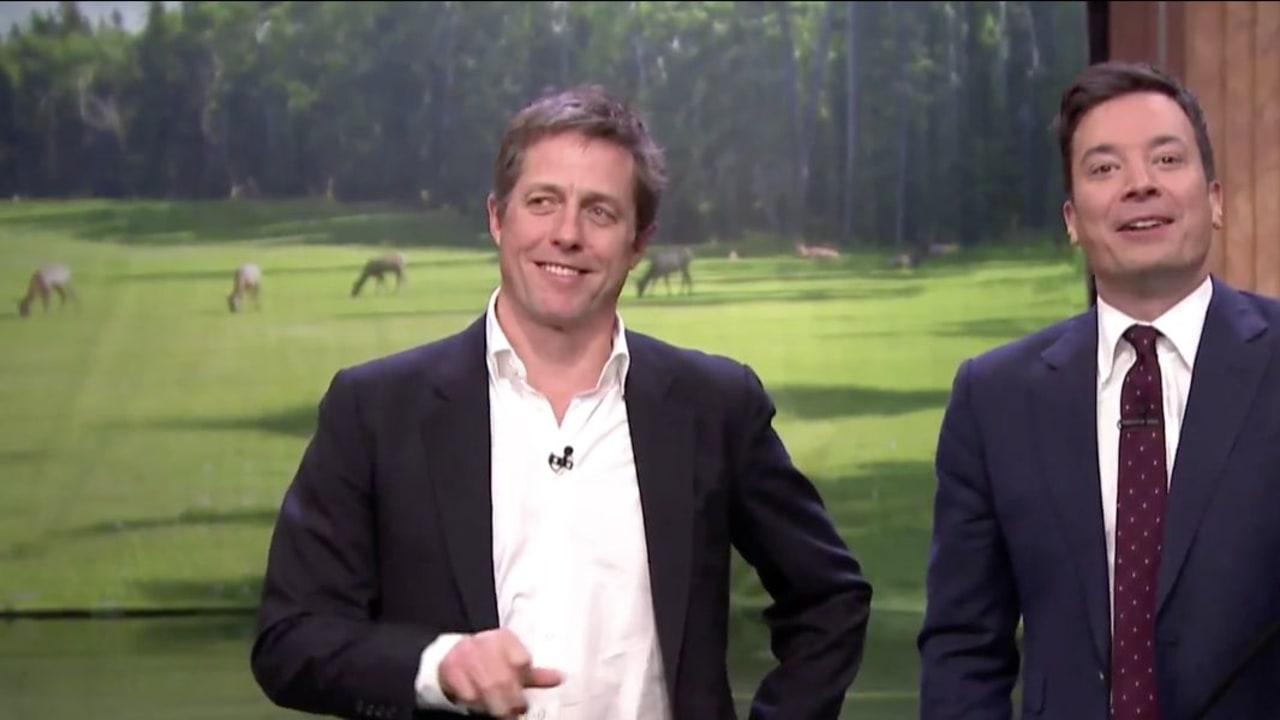 Golf Tonight Show Hugh Grant Charles Barkley