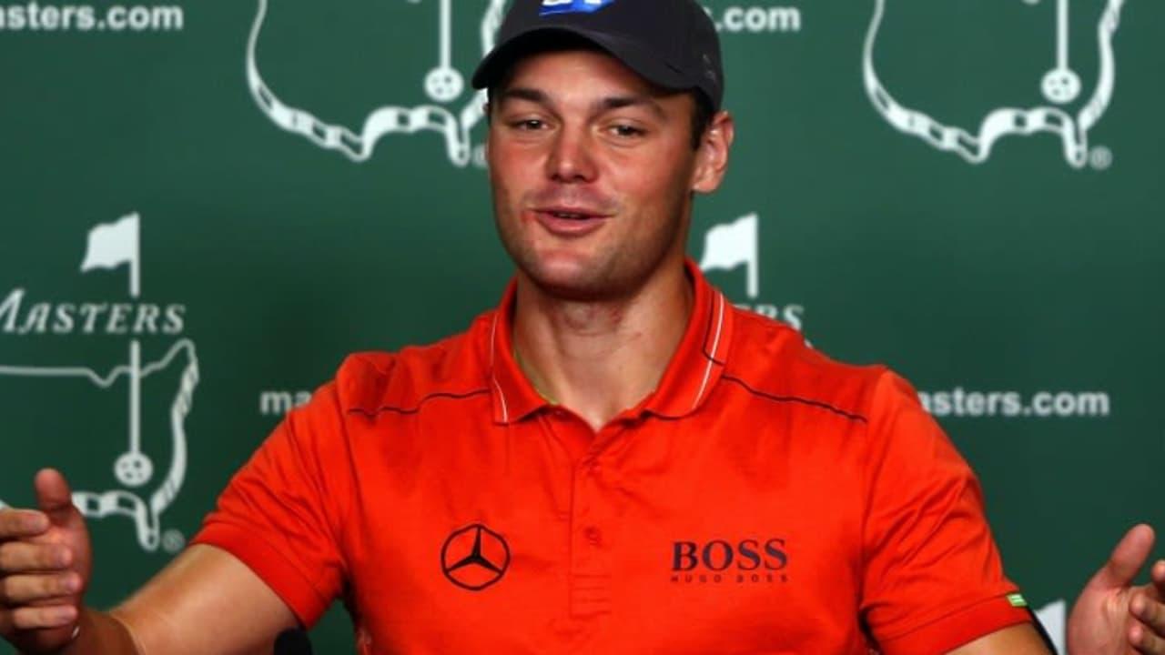 Martin Kaymer bei der offiziellen Pressekonferenz am ersten Probetag beim Masters in Augusta.
