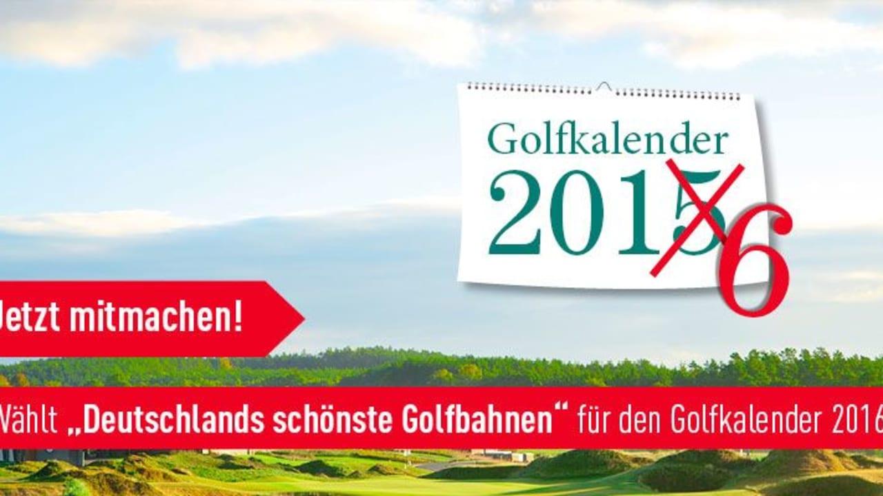 Welche Golfclubs im Golfkalender 2016 erscheinen liegt ganz in Ihrer Hand. (Foto: Golf Post)
