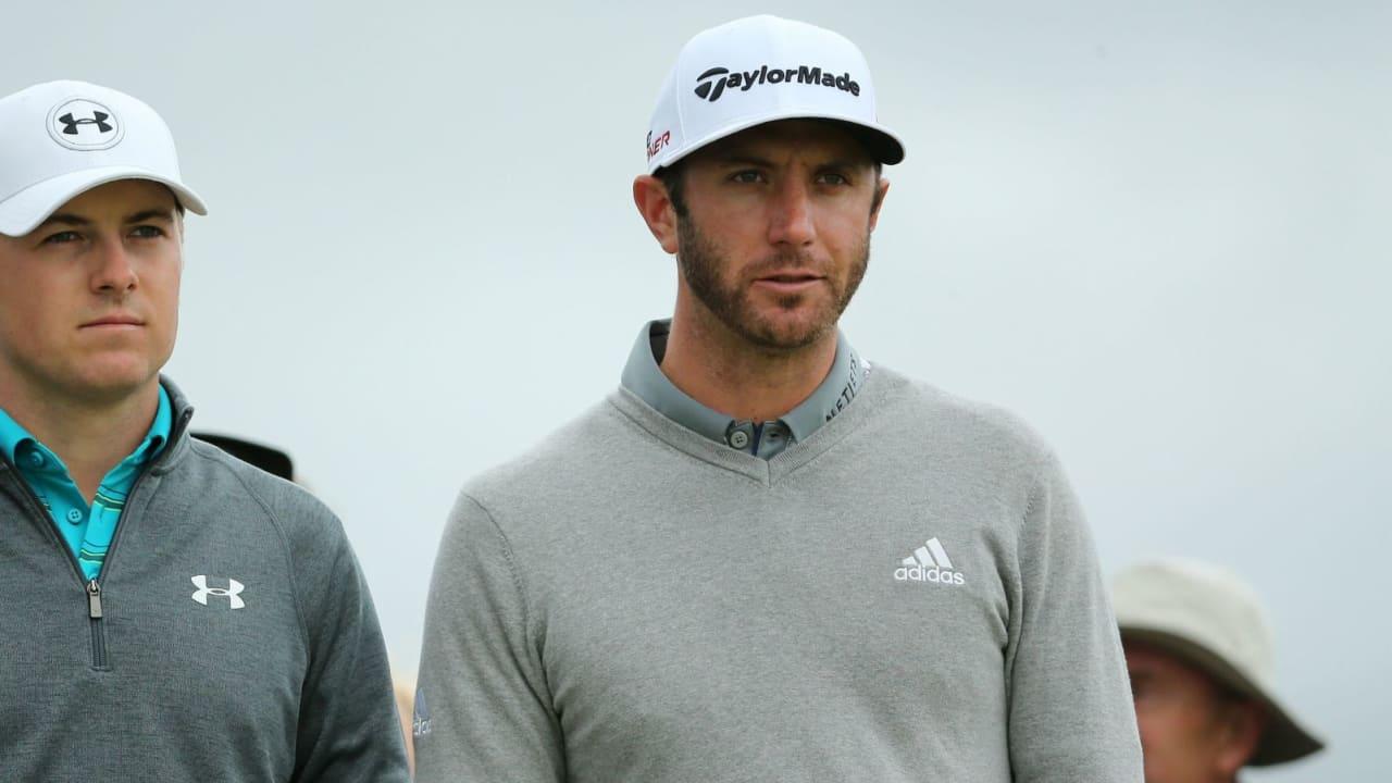 Blick auf's Ziel: Der eine Jagd den Grand Slam, der andere das längst überfällige Major. Spieth und Johnson unterwegs ... (Foto: Getty)