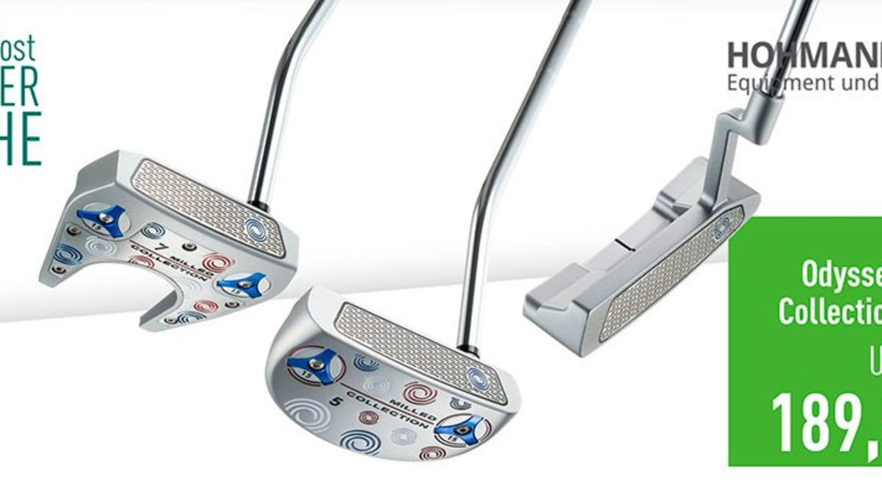 Odyssey Milled Collection im Deal der Woche mit Hohmann Golf. (Bild: Golf Post)