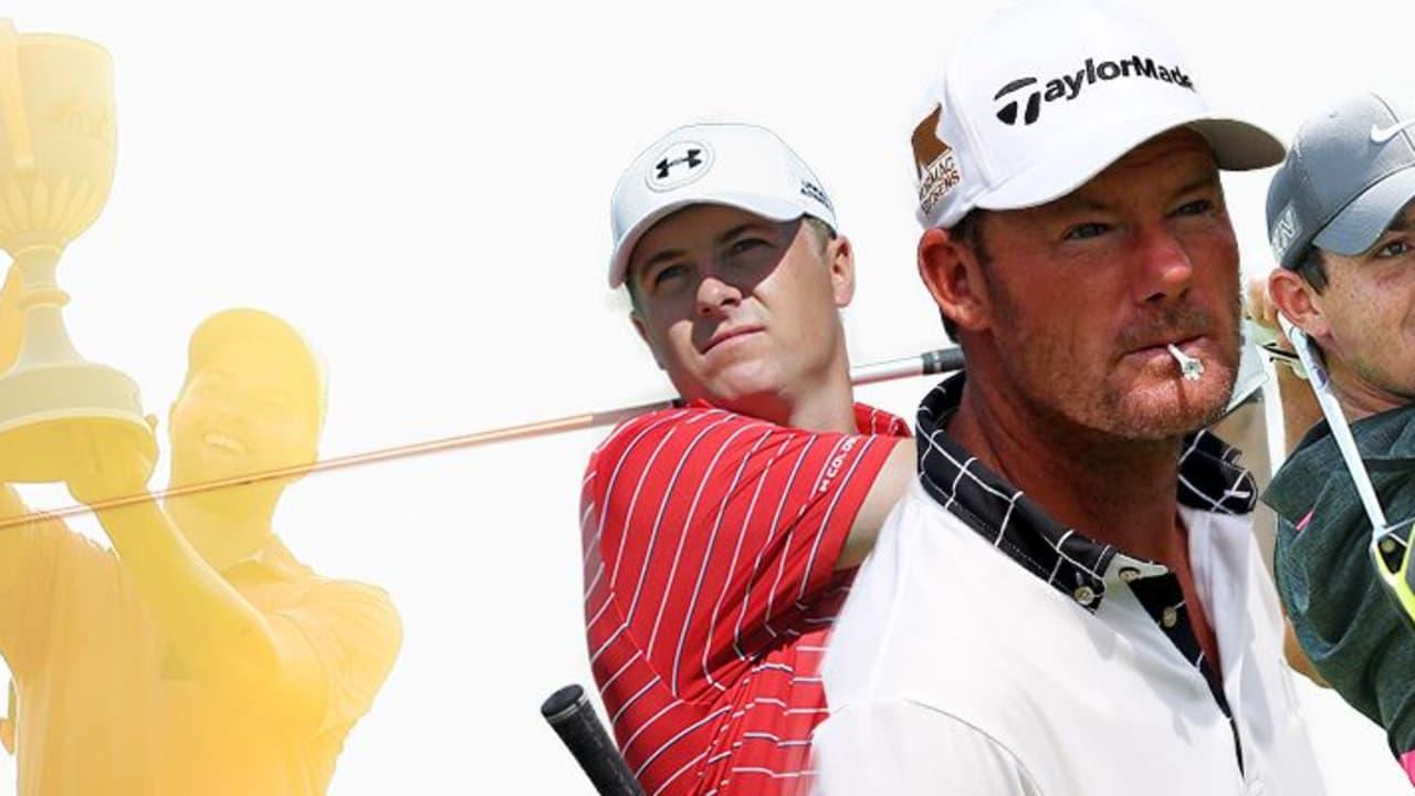 Für Alex Cejka (m.), Jordan Spieth (l.) und Rory McIlroy gehen die FedExCup-Playoffs mit der Deutsche Bank Championship in die entscheidende Phase.