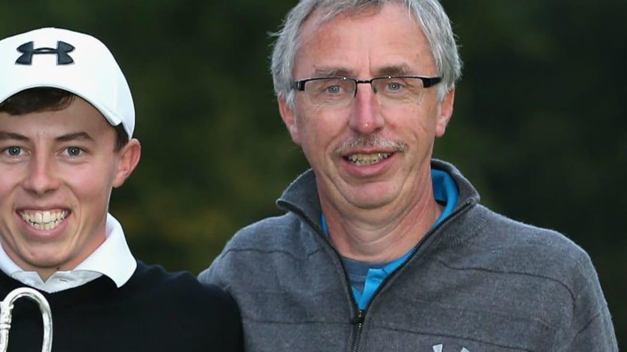 Matthew Fitzpatrick mit Vater Russell nach dessen Sieg beim British Masters.