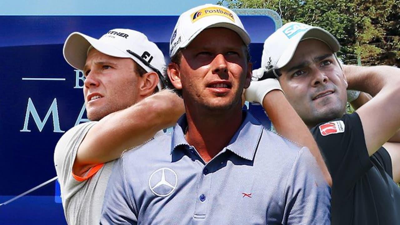 Maximilian Kieffer, Marcel Siem und Moritz Lampert (v.l.) starten beim British Masters in England.