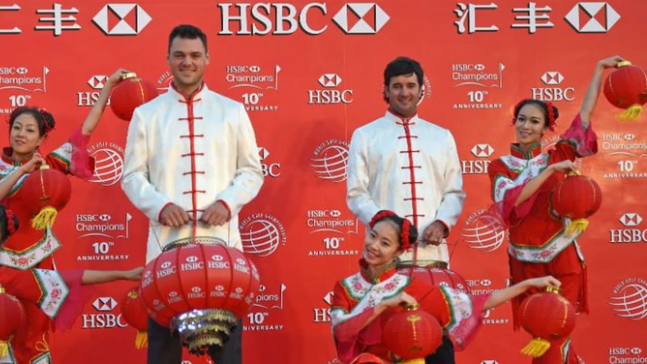 Neben Adam Scott, Martin Kaymer und Titelverteidiger Bubba Watson (v.l.) starten bei der WGC - HSBC Champions viele weitere Golfstars. (Foto: Getty)