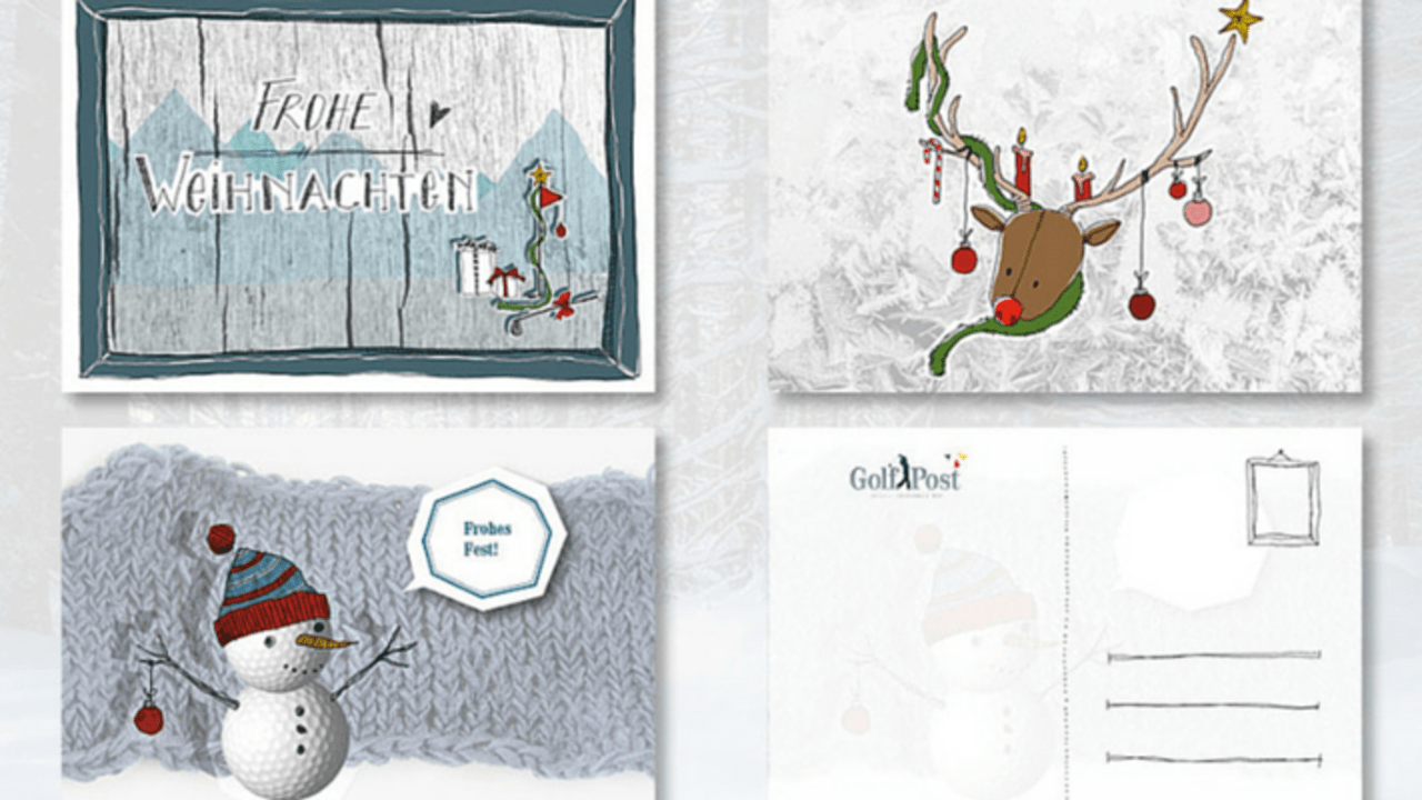 Golf Post Weihnachtskarten - Jetzt golferische Grüße verschicken