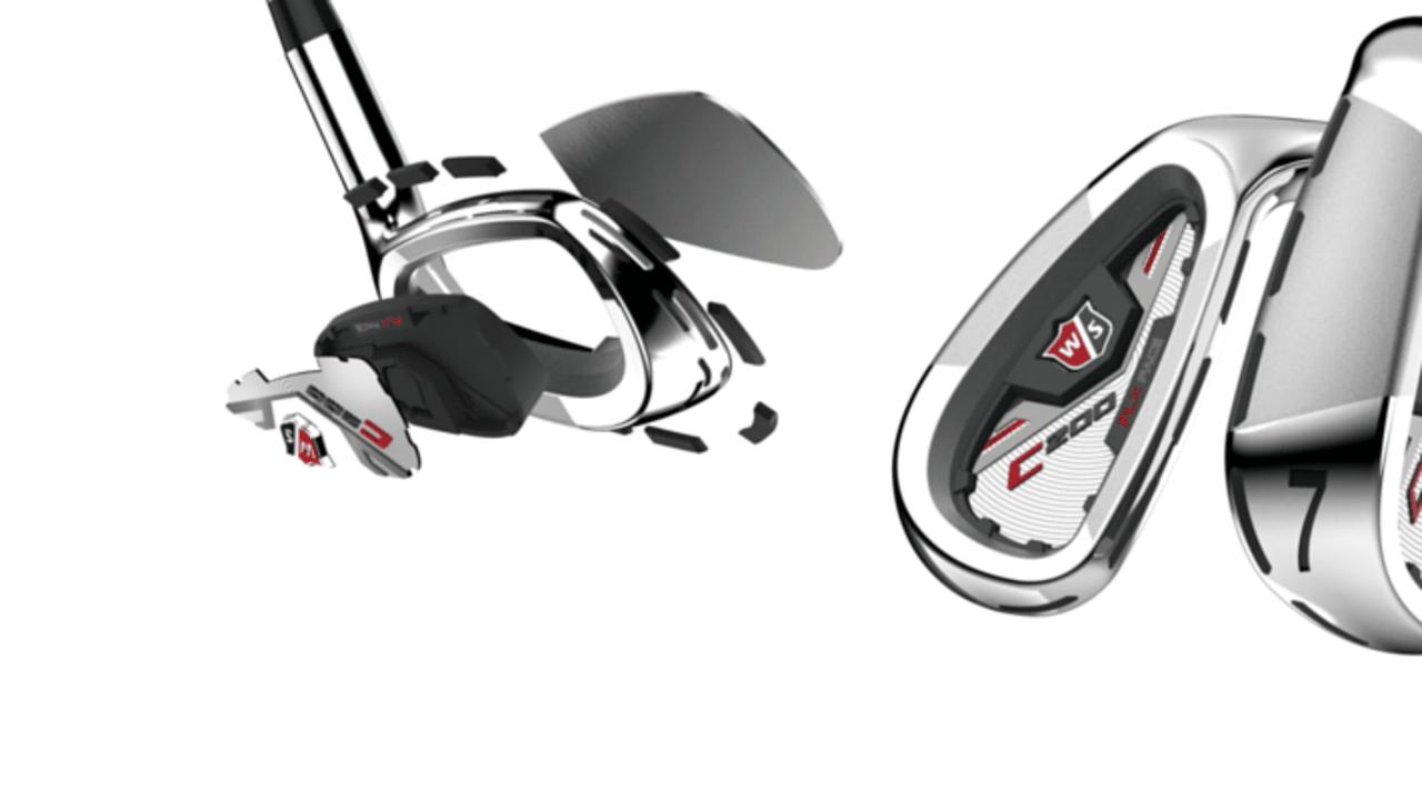 Die Schlägerköpfe der neuen C200-Eisen mit neuer FLX Face Technologie. (Foto: Wilson Staff)