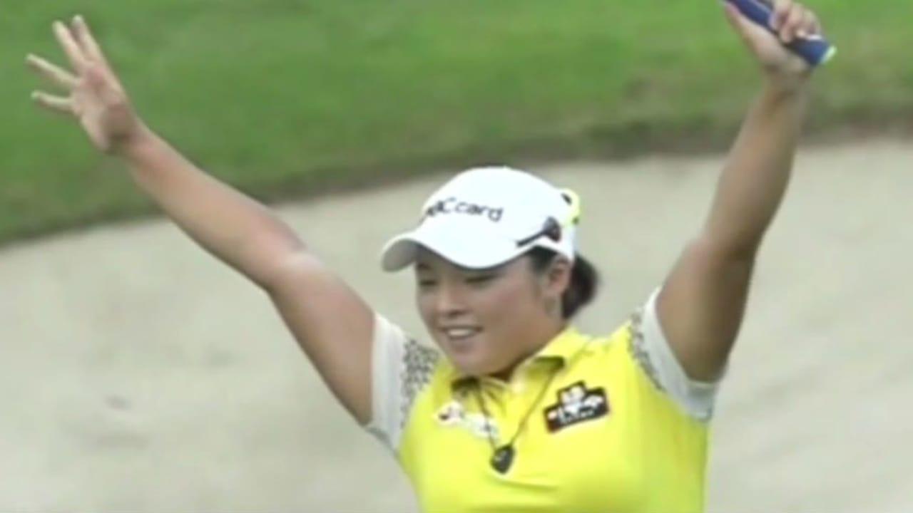 Ha Na Jang jubelt nach Siegen gern ausgelassen und ungewöhnlich. (Foto: Screenshot Youtube)