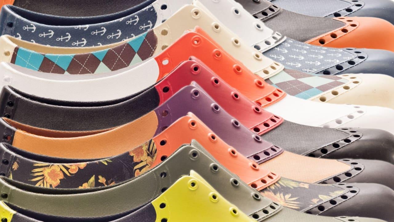 Biion hat einen farbenfrohen und gummihaltigen Golfschuh entwickelt. (Foto: Biion Footwear)