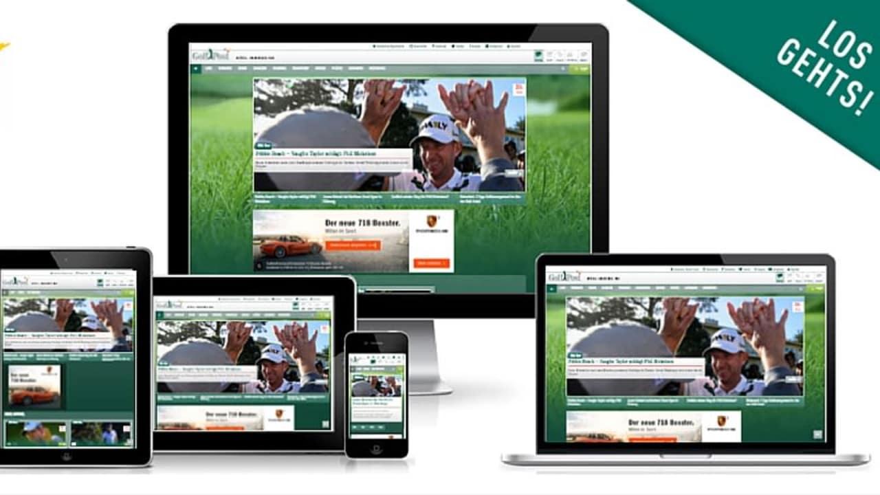 Golf Post im neuen Design: Ab heute responsive auf allen Geräten. (Foto: Golf Post)
