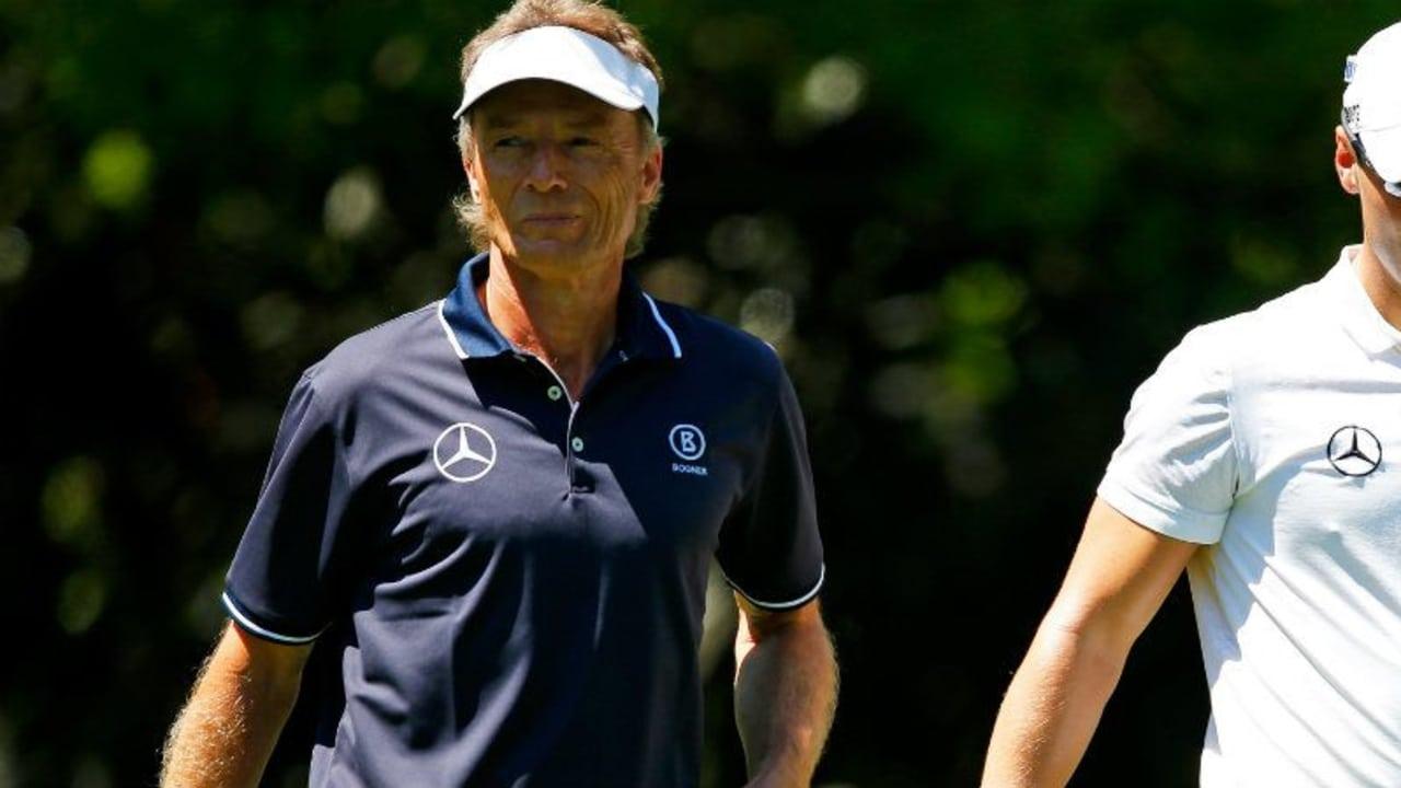 Martin Kaymer und Bernhard Langer spielten noch beim Par-3-Contest zusammen. Jetzt trennen sie Welten. (Foto: Getty)