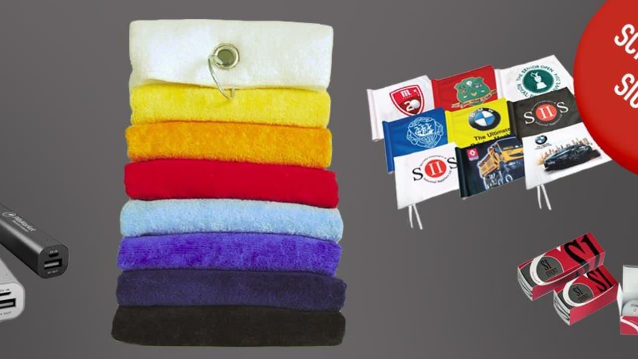 Werbemittel im Golfsport von S1 Event: Bei der aktuellen Aktion für Golf Post Leser erhalten Sie bedruckte Bälle oder bestickte Handtücher zum Sonderpreis. (Foto: Golf Post)
