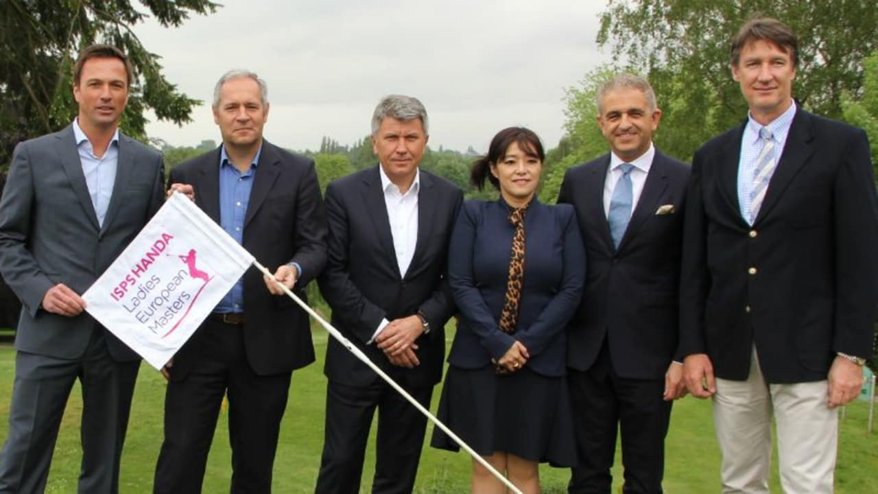Das Organisationsteam des Ladies European Masters um Dirk Glittenberg (links) und LET Geschäftsführer Ivan Khodabakhsh (2. v. r.)