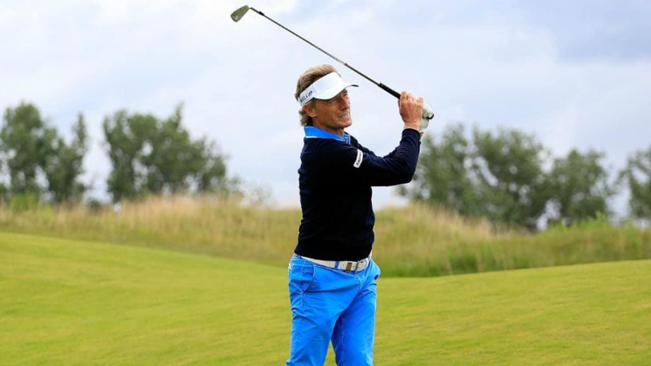 Bernhard Langer liegt bei der Senior Open auf dem fünften Rang. (Foto: Getty)