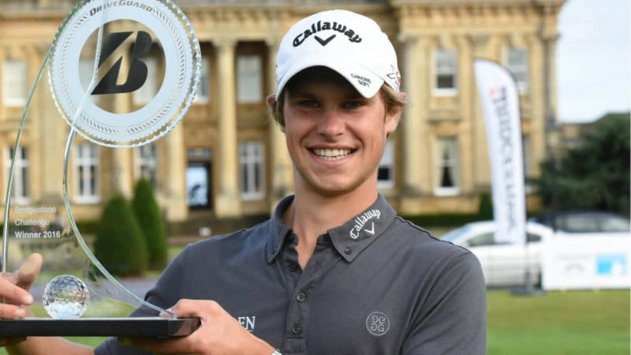 Lowscorer Thomas Detry aus Belgien ist der Sieger der Bridgestone Challenge. (Foto: Twitter/@Challenge_Tour)