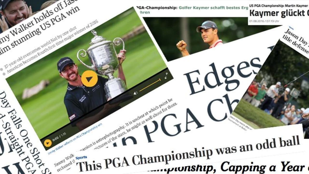 Medienecho Presseschau PGA Championship 2016 Jimmy Walker