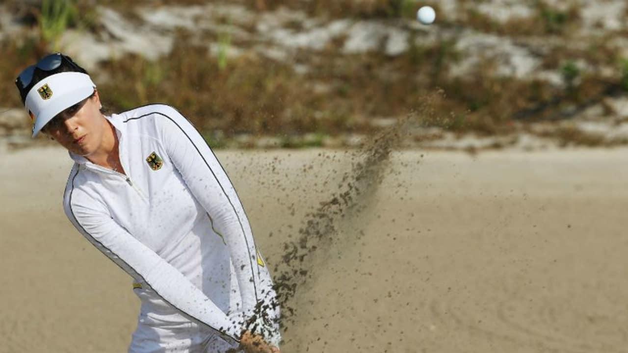 Sandra Gal strengt sich in der dritten Runde stark an. (Foto: Getty)