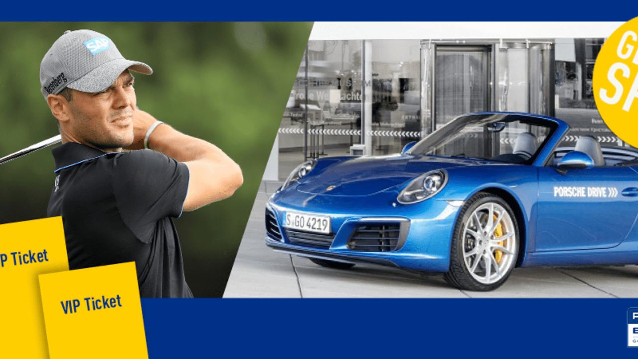 Jetzt VIP Tickets und Porsche Drive Gutscheine für die Porsche European Open gewinnen. Auch Martin Kaymer ist mit von der Partie. (Foto: Getty / Porsche)