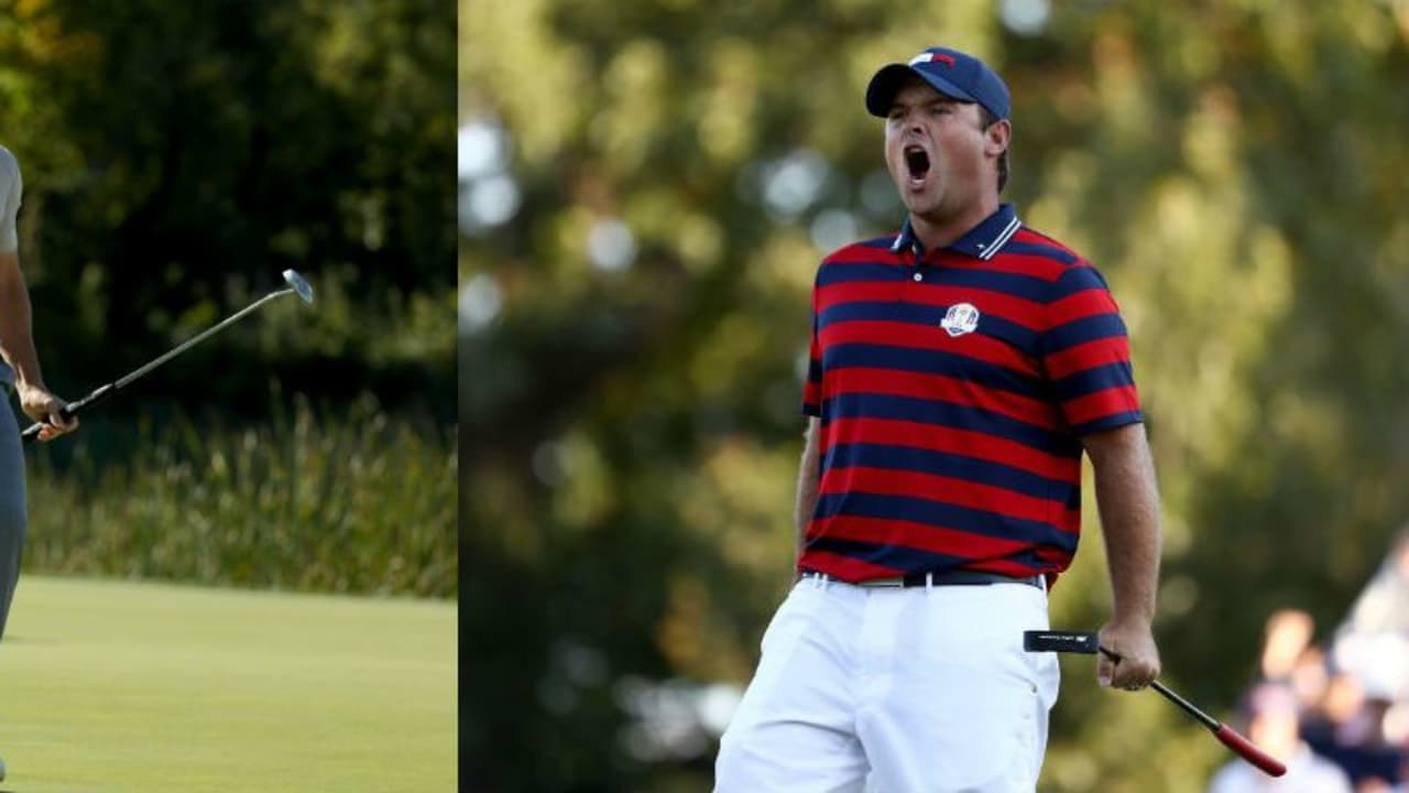Die beiden Dominatoren der Fourballs am zweiten Tag beim Ryder Cup heißen Rory McIlroy und Patrick Reed. Beide spielten Golf von einem anderen Stern und sicherten ihrem Team jeweils einen Punkt. (Foto: Getty)