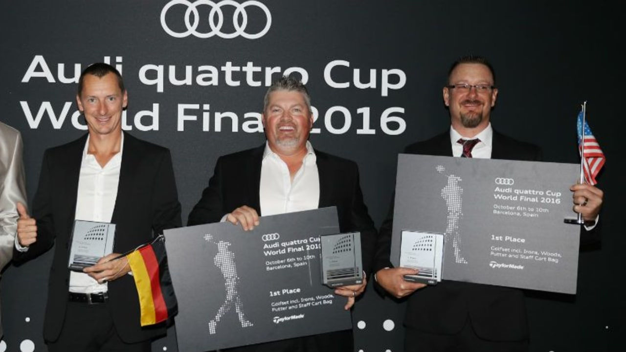 Die Sieger: Gerit Flohr, Sebastian Kaul, Don Tate, Eric Kelley (v.l.). (Foto: Audi Sports Communications)