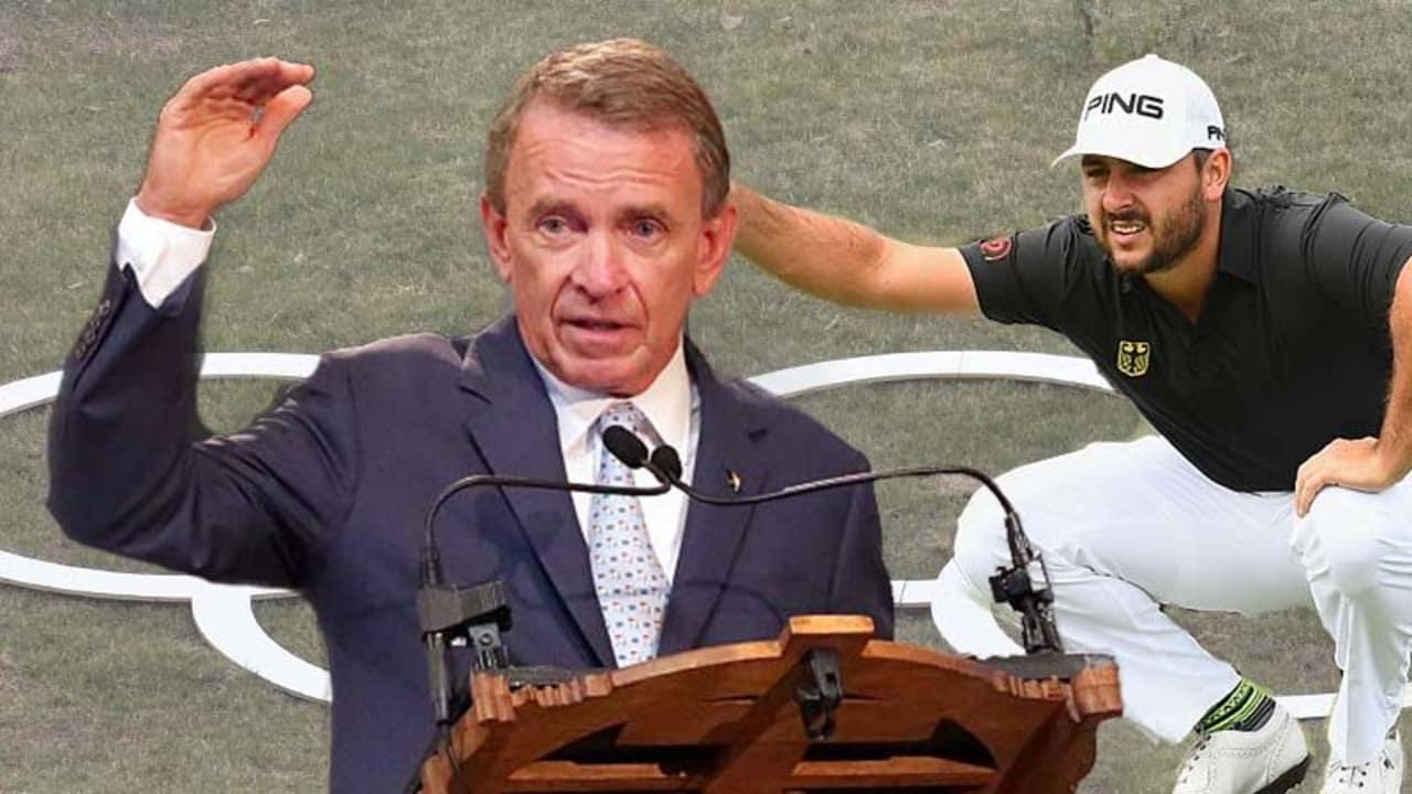 PGA-Tour-Chef Tim Finchem (l.) versucht vor Beginn seines Ruhestandes noch einiges zu bewegen.