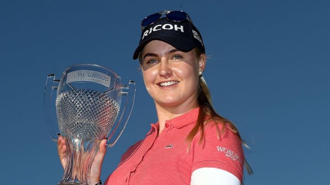 Charley Hull aus England gewinnt mit der CME Group Tour Championship ihren ersten LPGA-Tour-Titel. (Foto: Getty)