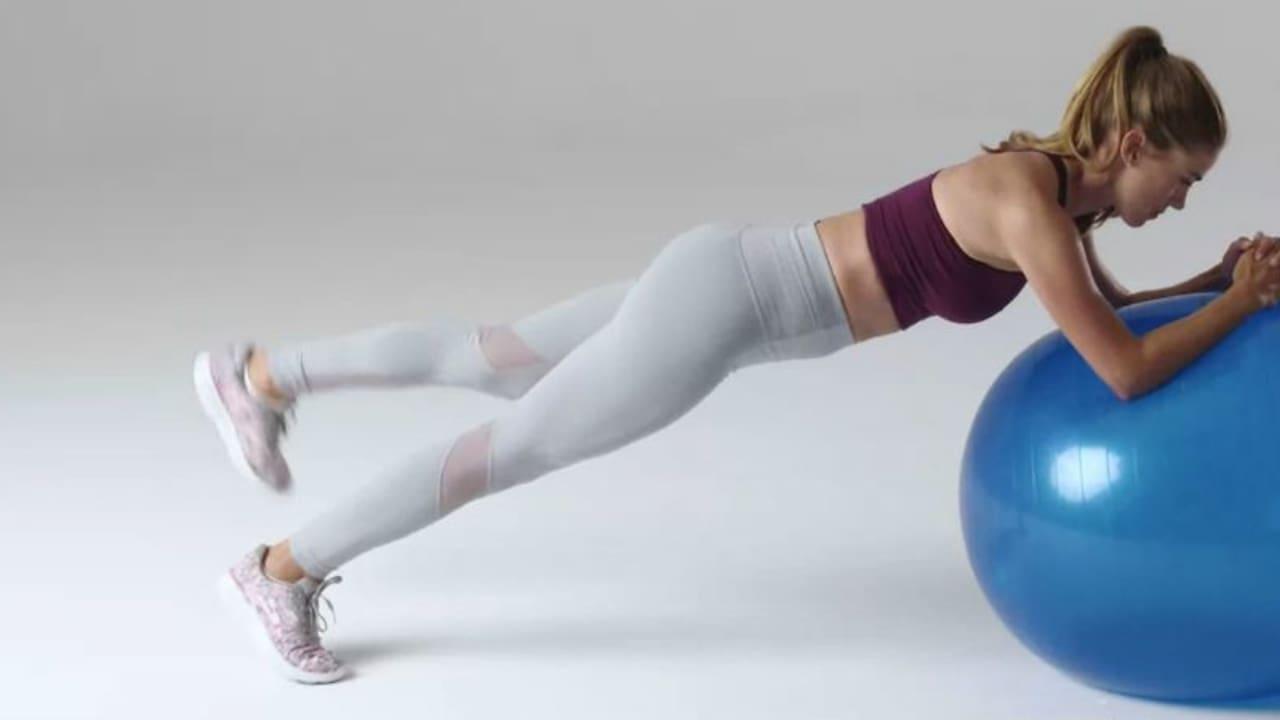 Belen Mozo bei ihrem anspruchsvollen Workout. (Foto: Screenshot)