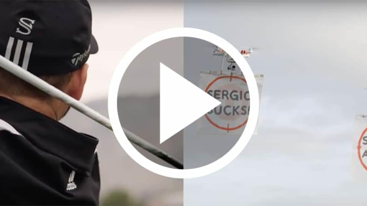 Sergio Garcia schießt auf Drohnen mit TaylorMade