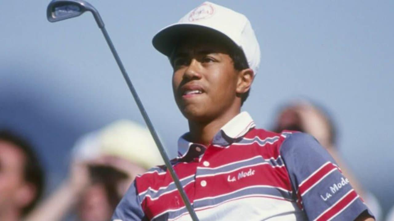 Tiger Woods bei seinem ersten PGA-Tour-Auftritt im Riviera Country Club im Jahr 1992.