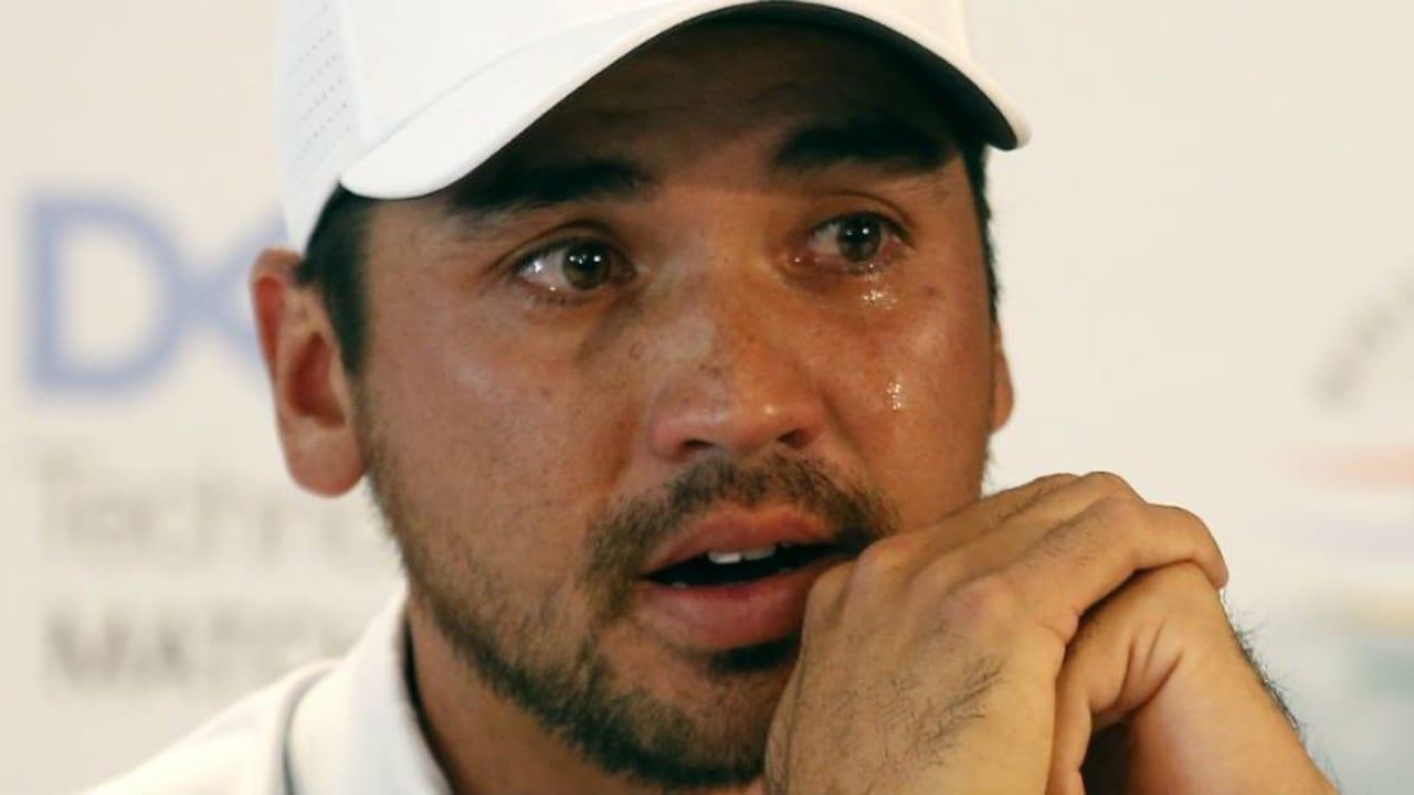 Ein emotionaler Jason Day verkündet seinen Rücktritt von der WGC - Dell Technologies Match Play. (Foto: Getty)
