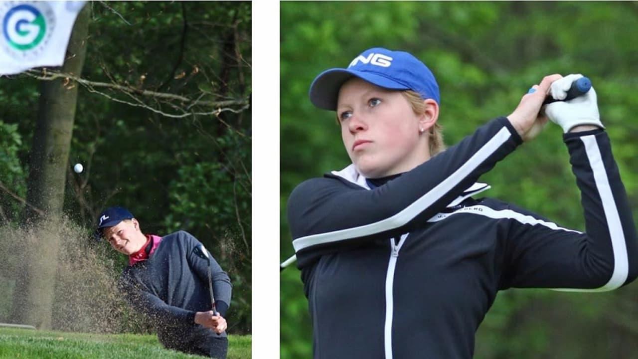 Die beiden diesjährigen DLM Gewinner Paula Kirner und Lukas Gras. (Foto: DGV/stebl)