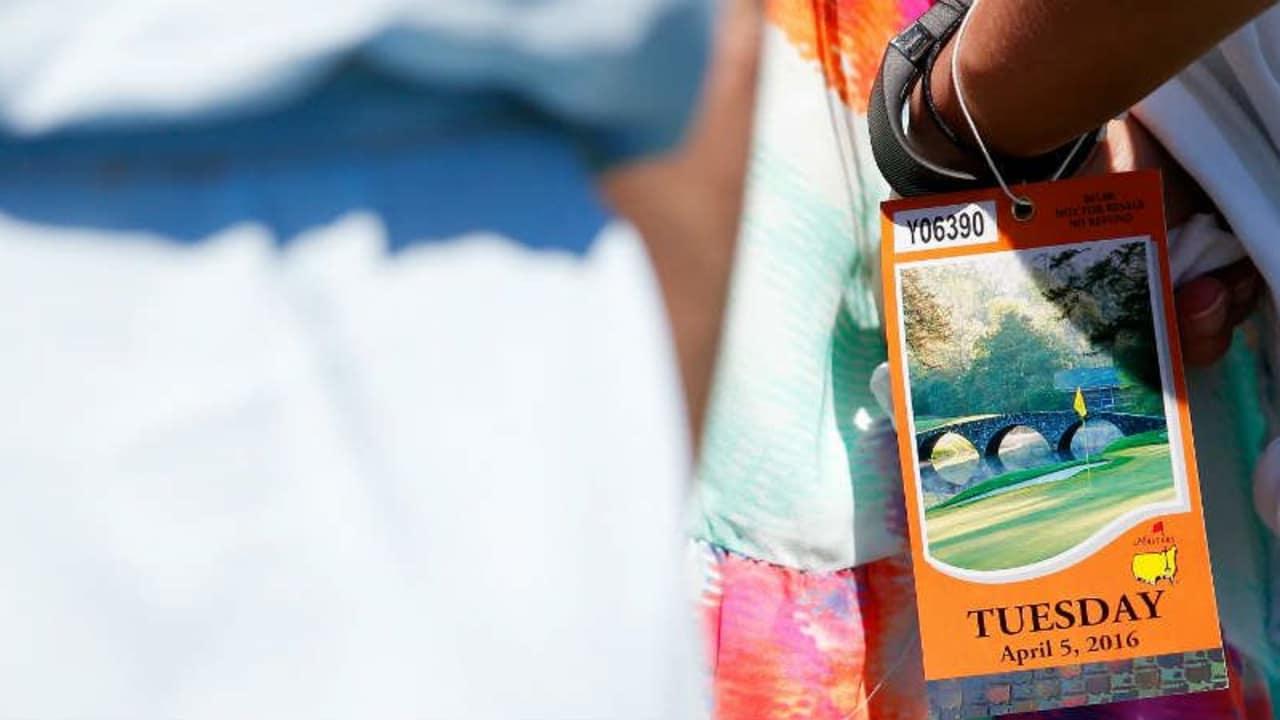 Heiß begehrt: Eine Eintrittskarte zum Masters Tournament. (Foto: Getty)