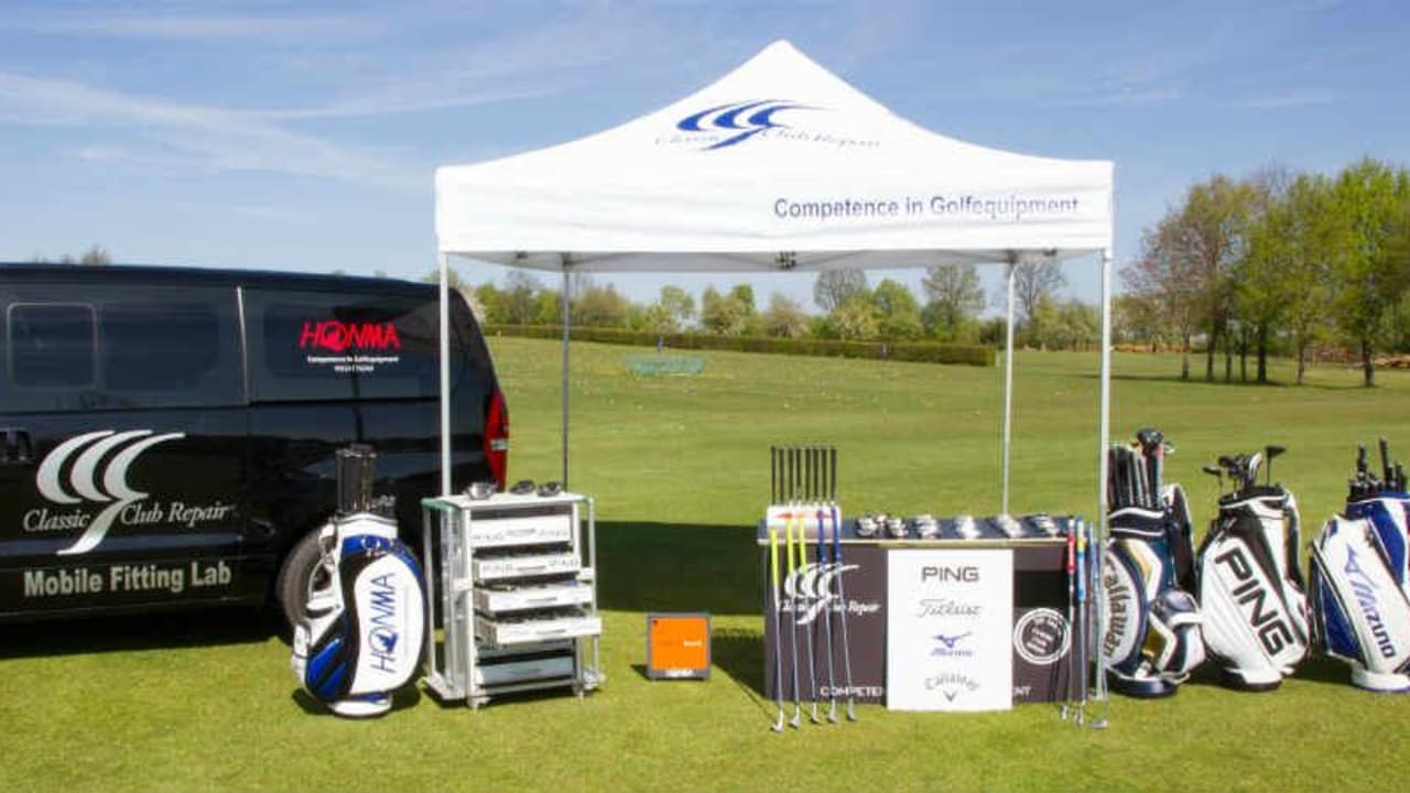 Das mobile Fitting Lab von Classic Club Repair. (Foto: Classic Club Repair)