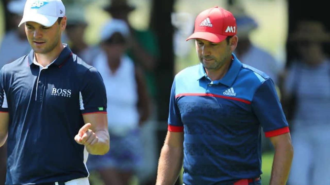 Martin Kaymer (l.) macht nach der Open Championship in der Golf Weltrangliste einen Platz gut. (Foto: Getty)
