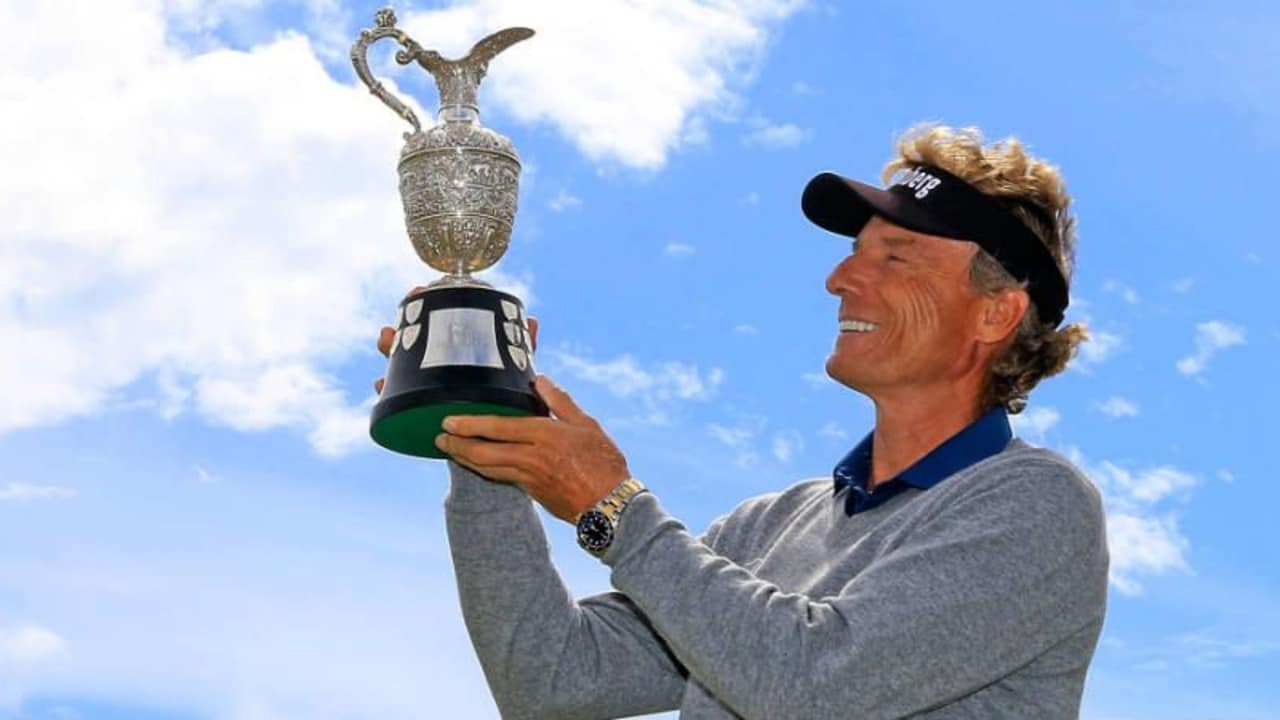 Nach 2010 und 2014 feiert Bernhard Langer seinen dritten Triumph bei der Senior Open Championship. (Foto: Getty)