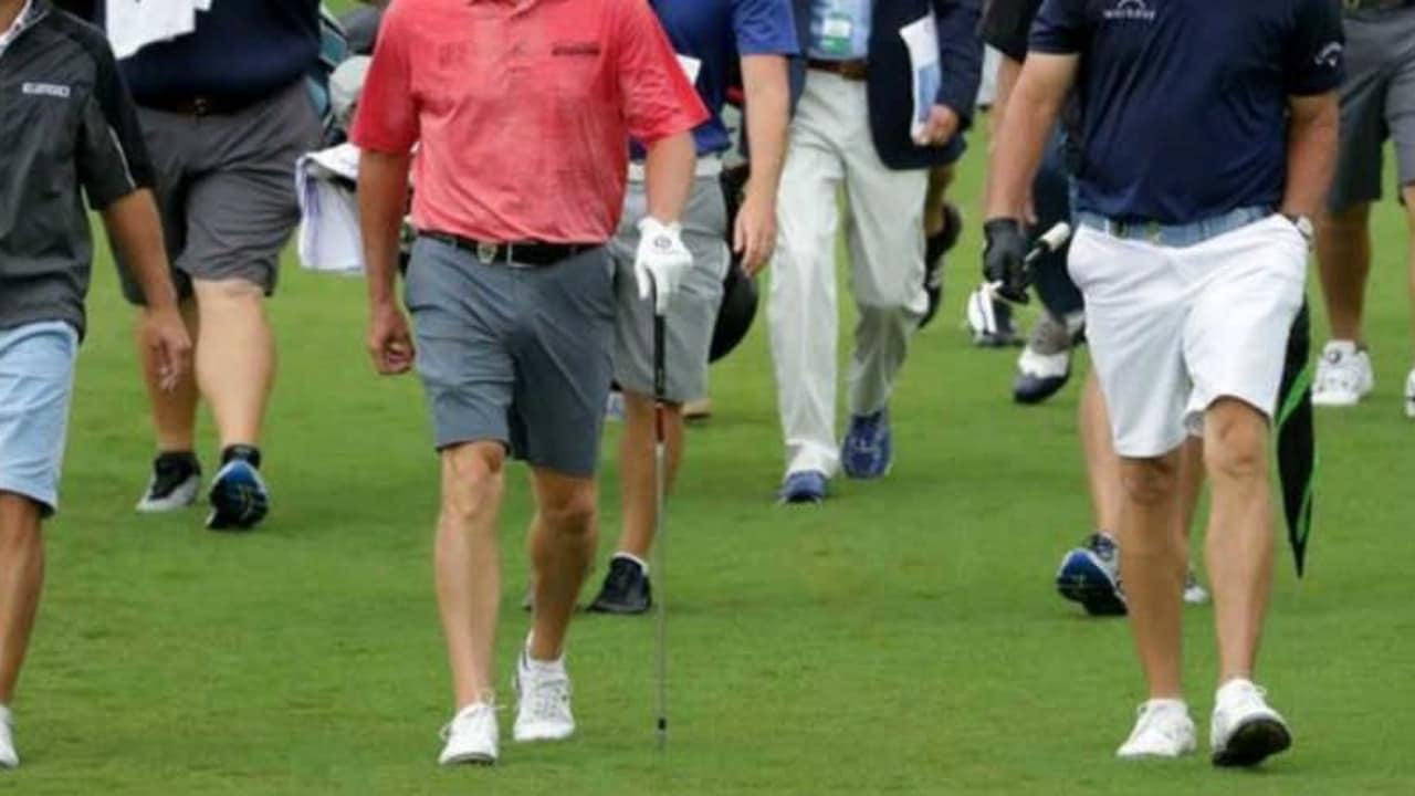 Nach der European Tour lässt jetzt auch die PGA Tour Shorts bei Trainingsrunden während ihrer Turniere und Majors zu. (Foto: Twitter@Rapparulli) Dresscode