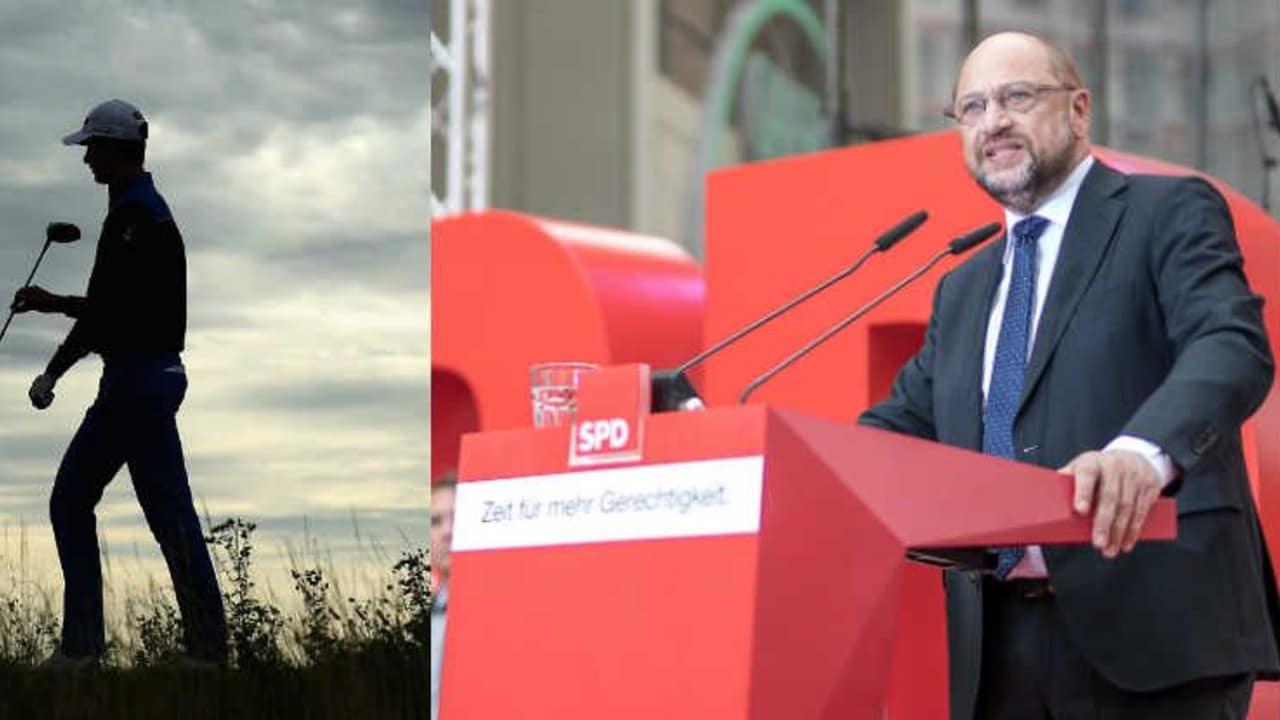 Martin Schulz sorgte mit seiner Rhetorik über Golffahrer und Golfspieler für Aufregung. (Foto: Getty)