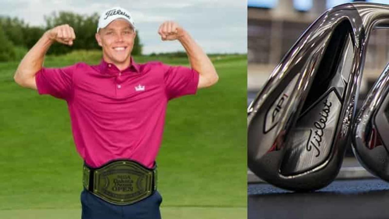 Max Rottluff hat die neuen Titleist 718 AP2 Eisen bereits im Bag und hat Golf Post geschildert, wie sie sich spielen. (Foto: Max Rottluff/Titleist)