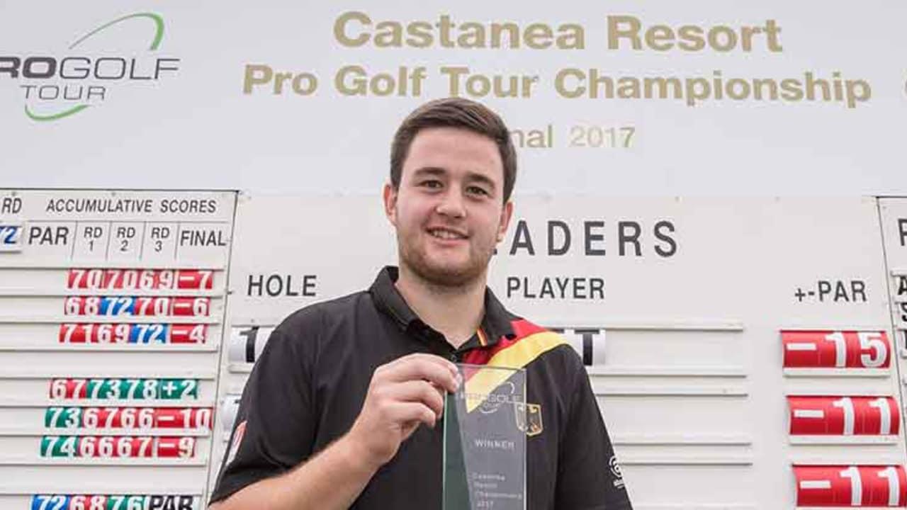 Max Schmitt gewinnt die Castanea Resort Championship in Adendorf. (Foto: Stefan Heigl)
