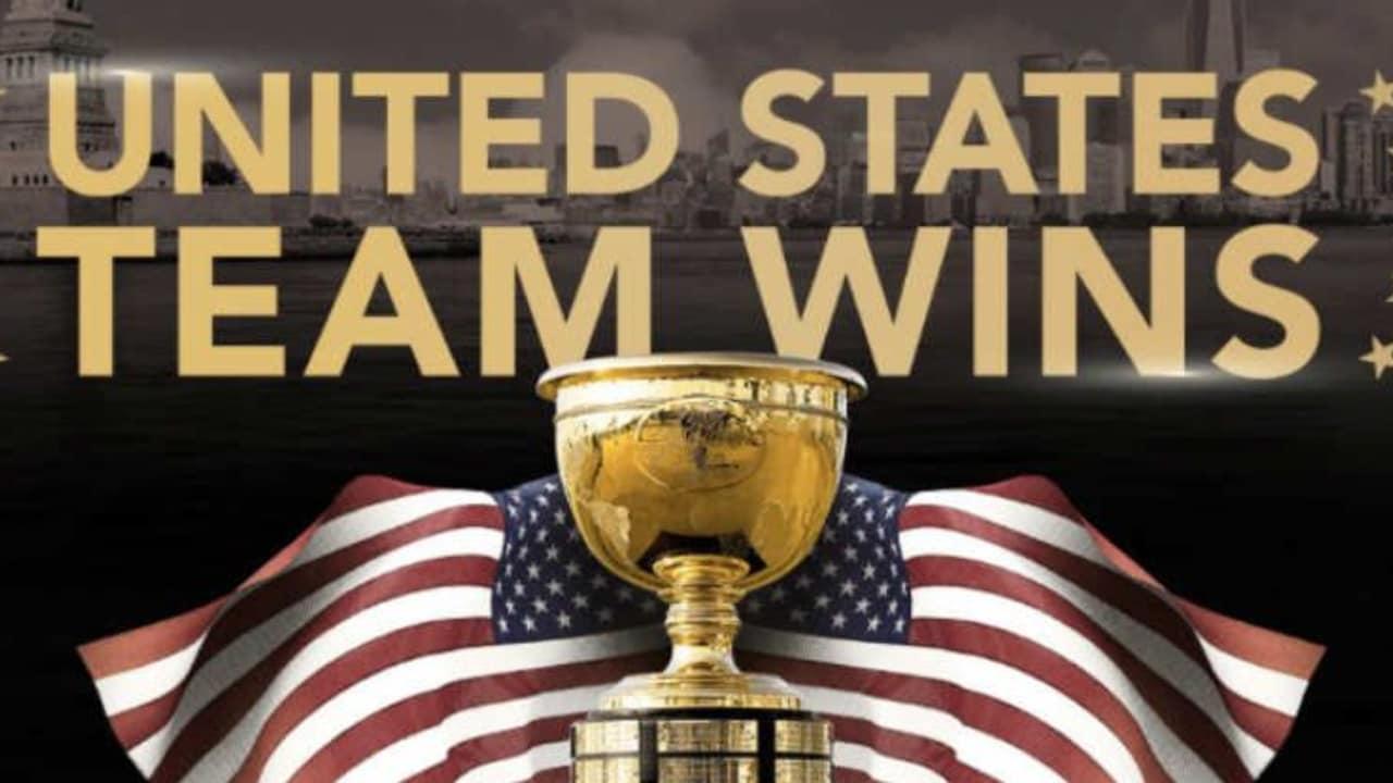 Team USA gewinnt den Presidents Cup 2017 im Liberty National GC. (Foto: twitter.com/PGATour)