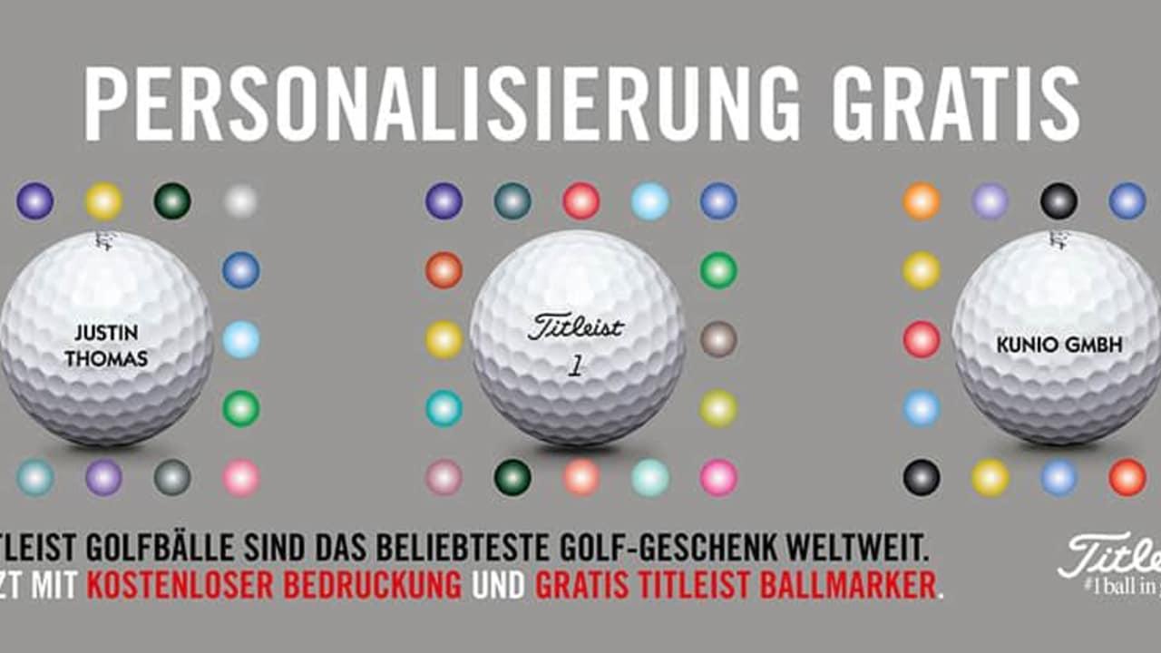 Titleist personalisiert vor Weihnachten wieder gratis die bestellten Bälle nach Wunsch. (Foto: Titleist)