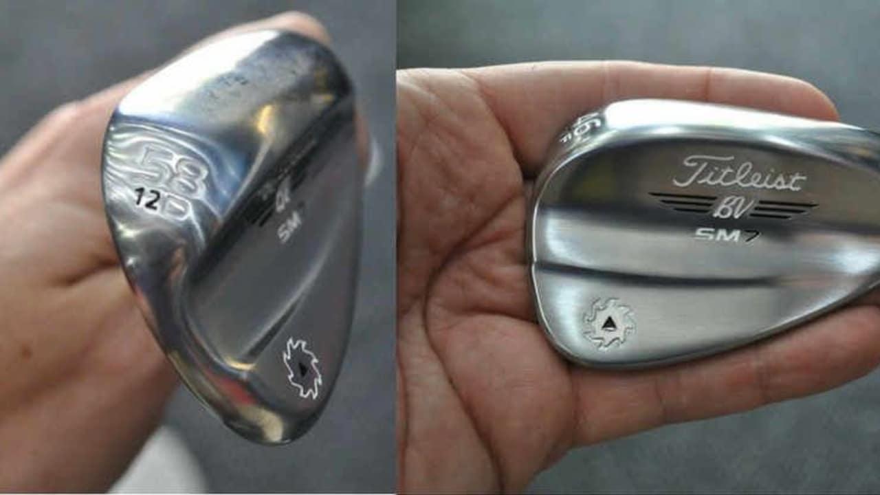 Die neuen Vokey Wedges gehen in die siebte Generation. Zurzeit befinden sich die Prototypen in den Bags der Tour-Spieler. (Foto: Twitter @GolfHub_)
