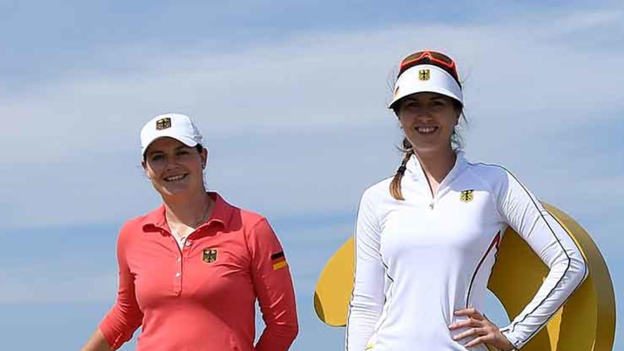Caro Masson (li.) und Sandra Gal sind die bestplatzierten deutschen Spielerinnen in der Golf Weltrangliste. (Foto: Getty)